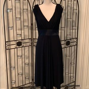 Black knit cocktail dress
